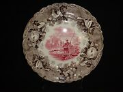 Very Rare Antique 19th.c Staffordshire Two Color Fly Fisherman Pattern Plate J