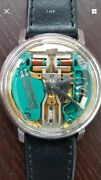 Mens Bulova Accutron Spaceview Wrist Watch 10kt Gold Filled