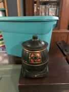 Vintage Mccoy Potbelly Stove Cookie Jar Very Good Color Usa Made