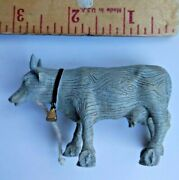 Cow Parade Wood Pull Toy Mini Moos Cow Figurine Collectible Miniature Small