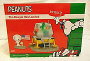 New Dept 56 Peanuts The Beagle Has Landed Snoopy Woodstock Astronaut Moon Lands