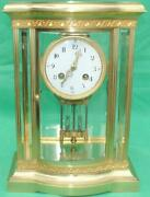 Japy Freres French 8 Day Crystal Regulator 6 Glass Serpentine Table Clock