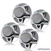 4 Chrome Wheel Hub Cap Center Cover Fit For 1997-2003 Ford F150 Expedition