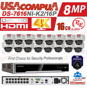 Hikvision Poe Security System 4mp Nvr Kit 16ch Poe H265+ Hdd Included