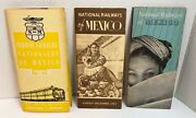 1946 1955 1964 National Railways Of Mexico Timetable 3 Brochures 1 In Spanish