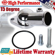 Water Neck Thermostat Housing 15 Degree For 1968-1986 Chevy 350 Sbc Bbc Chrome