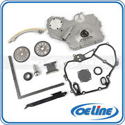 Timing Chain Kit For 00-10 Chevy Pontiac Saturn 2.0l 2.2l Oil Pump Cover Gasket