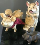 Vintage Cast Iron Pigs Jmr The Wise Pig And Flying Pigs Shab Chic And So Cute