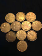Set Of 11 French 20 Francs, Rooster Coin- 3 From 1950, 3 From 1952, 5 From 1952