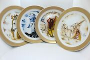 4 Plates The Horses Of Salvador Dalandiacute Collection In Porcelain And Nandordm Gold 4000th