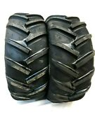 Two 20x8.00-10 4 Ply Ag Traction Tires 22 Mag Lawn Tractor 20x8.0-10 20x8-10