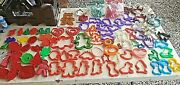 Mixed Lot Of 137 Vintage Metal Copper And Plastic Cookie Cutters Wilton And More