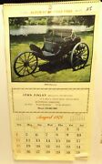 1973 Album Of Antique Cars Calendar Great Pictures By John Finlay Advertising
