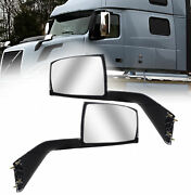 Volvo Vnl Chrome Hood Mirror 2004 - 2017 Pair Side With Nuts And Mounting Plates