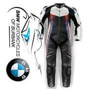 Doubler Suit White   Blue   Red Men's Genuine Bmw Motorcycle Ride Eu 48   Usa 38