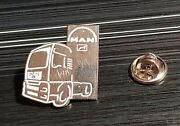 Man Pin Truck Tractor White Silver - Dimensions 0 29/32x1 1/32in