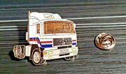 Man Pin Truck Tractor White Enamelled - Dimensions 1 3/8x1 7/32in