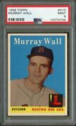 1958 Topps 410 Murray Wall Red Sox Psa 9 14374744