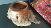 Old Carved Wooden Bonsai Scholar Calligraphy Bowl …beautiful Display And Collec