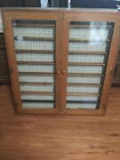 Ho Train Display Case Cabinet For Ho Scale Model Train Set. Solid Wood Hand Made