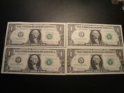 4 1.00 Series 2017 K Federal Reserve Notes Bu Uncirculated Cond Abcd