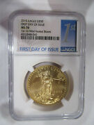 2015 American Gold Eagle 1 Oz 50 - Ngc Ms70 --- First Day Of Issue