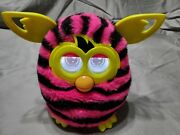 Furby Tiger 2012 - Pink With Black Stripes Good Condition Tested And Working