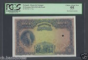 Portugal 10 Escudos Nd1919-20 P117p Proof Specimen About Uncirculated