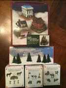 Liberty Falls Americana Set W/4 Buildings,3 Pewter Accessory Sets And 6 Trees