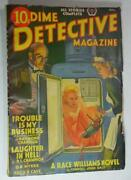 Dime Detective Pulp Aug 1939 Raymond Chandler Trouble Is My Business First Ed
