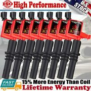 8 Pack Ignition Coil For Ford F150 Expedition 4.6/5.4l 2004 2005 2006 2007 2008