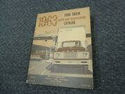 1963 Ford N500 N600 Medium Duty Truck Parts And Accessories Catalog Manual