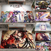 Date A Live Carpet Floor Mats Home Chair Anti-skid Area Rugs Rectangle Decor