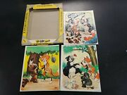 3 Vintage 1961 Tuco Workshop Inc Childand039s Picture Tray Jigsaw Puzzle - Bob Bindig