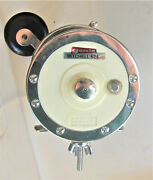 Vintage Garcia Mitchell 624 Salt Water Fishing Reel Loaded W/ 20 Stainless Wire