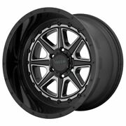 Four 4 24x12 Moto Metal Phantom Et -44 Black Grey 6x139.7 6x5.5 Wheels Rims
