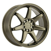 Ruff Shift Rims|style Fit Bronze 17x7.5 4x100 Qty4