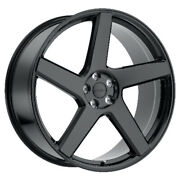 Redbourne Mayfair Rims for Land Rover Gloss Black 24x10 5x120 Qty4