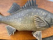 Rare Maine White Perch Carved Lawrence Irvine Fish Winthrop Me Fishing
