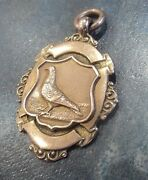 9ct Rose Gold Pigeon Fob Medal / Pendant C.1920/30 Turner And Simpson Not Engraved