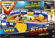 Monster Jam Dirt Arena 24 Playset 2lbs Synthetic Dirt Die Cast Truck Car Toy