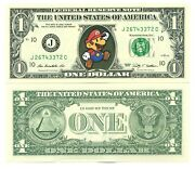 Super Mario Bros - Real Ticket From 1 Dollar Us Collection Video Game Nintendo