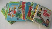 14 Golden And Whitman Tell-a-tale Books - Disney, Charlie Brown, Sesame Street
