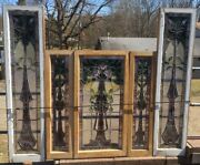 Victorian Set Of Leaded Stained Glass Windows