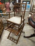 Antique Child's High Chair Tray Victorian Baby Doll Seat Vintage