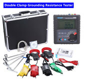 Double Clamp Digital Earth Resistance Tester Soil Resistivity Detector Rs232