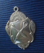 Vintage Sterling Silver Darts Fob Medal 1938 Fattorini And Sons - Not Engraved