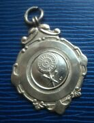 Sterling Silver Darts Medal / Watch Fob H/m 1946 Fattorini And Sons - W.w.d.l.
