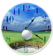 Golfing Golf Course Ball Clock Fathers Day Gift For Him Home Living Clocks 2073