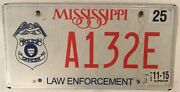 Police Officer Badge State Government License Plate Trooper Sheriff Official Cop